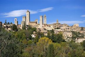 Blick auf San Gimignano