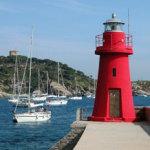 """Blick auf die """"Isola del Giglio"""""""